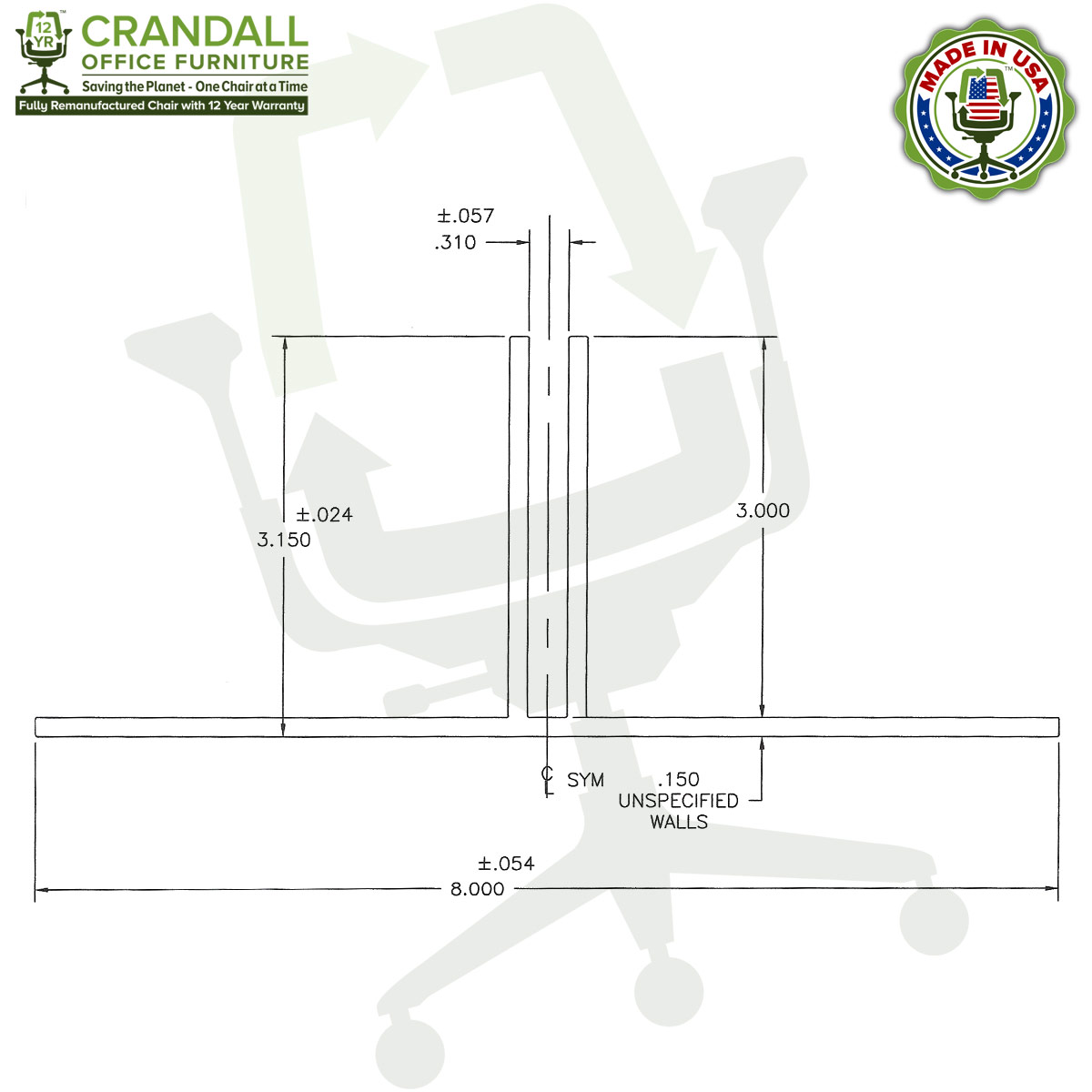 Table Top Free Standing Plexiglass & Acrylic Barrier Brackets Drawing