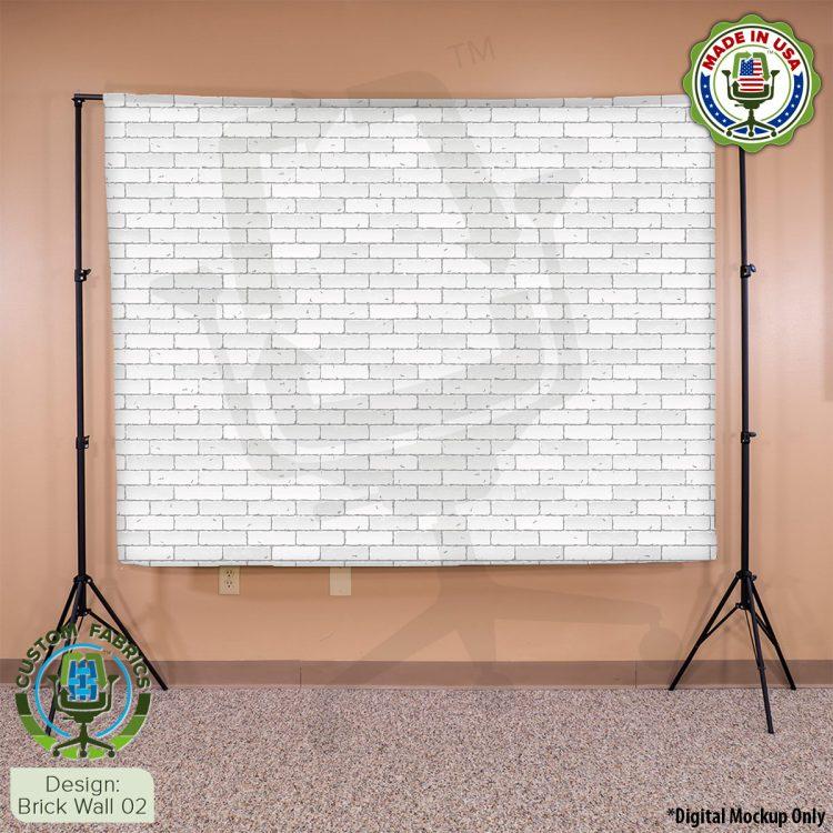 Video Call Custom Printed Backdrop - Brick Wall 02