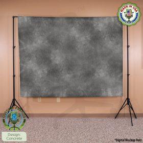 Video Call Custom Printed Backdrop - Concretre
