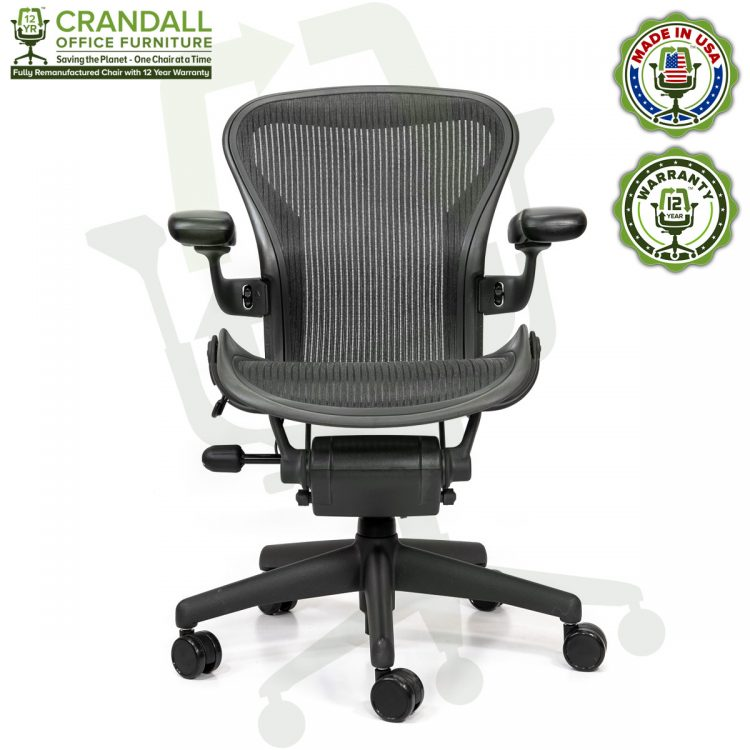 Crandall Office Refurbished Herman Miller Aeron Chair - Size A - 0001