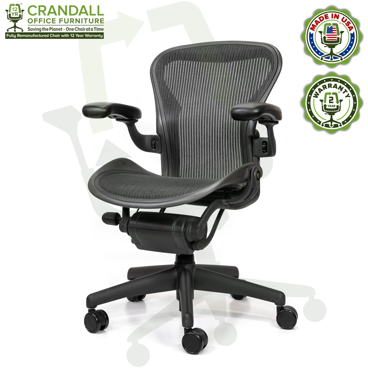 Crandall Office Refurbished Herman Miller Aeron Chair - Size A - 0002