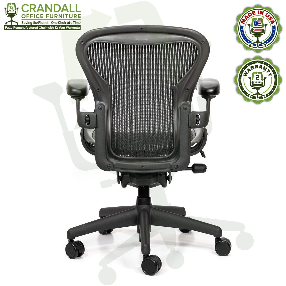 Crandall Office Refurbished Herman Miller Aeron Chair - Size A - 0005