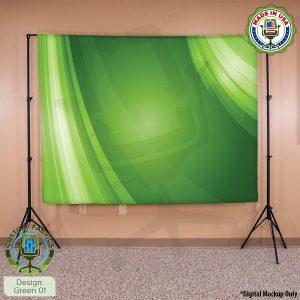 Video Call Custom Printed Backdrop - Green 01
