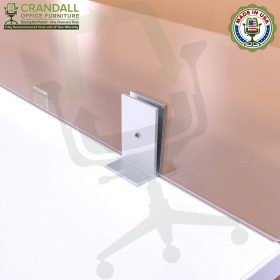 Clamp On Plexiglass & Acrylic Barrier Brackets 0011