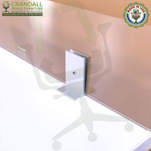 Clamp On Plexiglass & Acrylic Barrier Brackets 0011