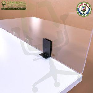 Clamp On Plexiglass & Acrylic Barrier Brackets 0012
