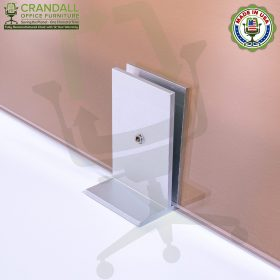 Clamp On Plexiglass & Acrylic Barrier Brackets 0013