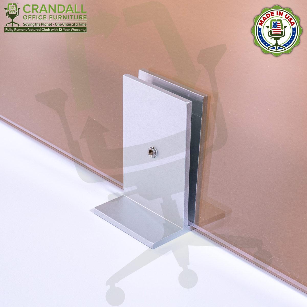Clamp On Plexiglass & Acrylic Barrier Brackets 0013