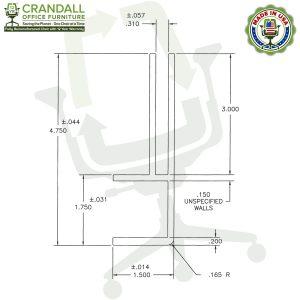 Clamp On Plexiglass & Acrylic Barrier Brackets Drawing
