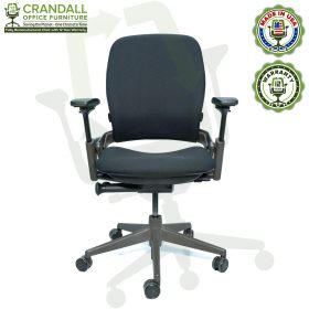 Crandall Office Furniture Remanufactured Steelcase V2 Leap Chair - Midnight Frame 01