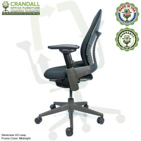 Crandall Office Furniture Remanufactured Steelcase V2 Leap Chair - Midnight Frame 04