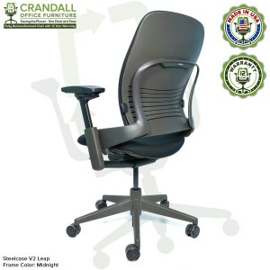 Crandall Office Furniture Remanufactured Steelcase V2 Leap Chair - Midnight Frame 05