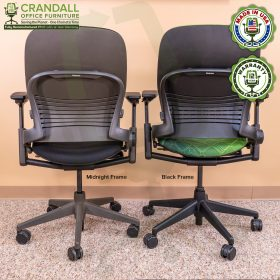 Crandall Office Furniture Remanufactured Steelcase V2 Leap Chair - Midnight Frame 08