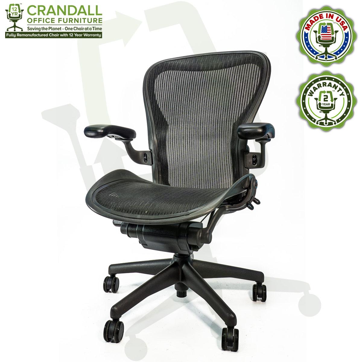 Crandall Office Refurbished Herman Miller Aeron Chair - Size C - 0002