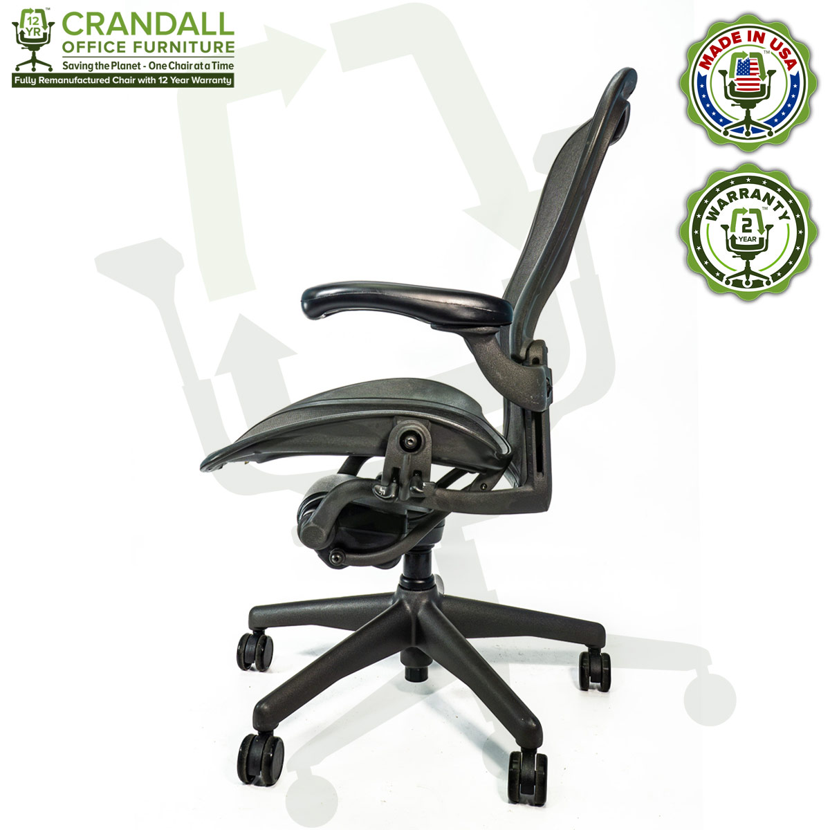 Crandall Office Refurbished Herman Miller Aeron Chair - Size C - 0003