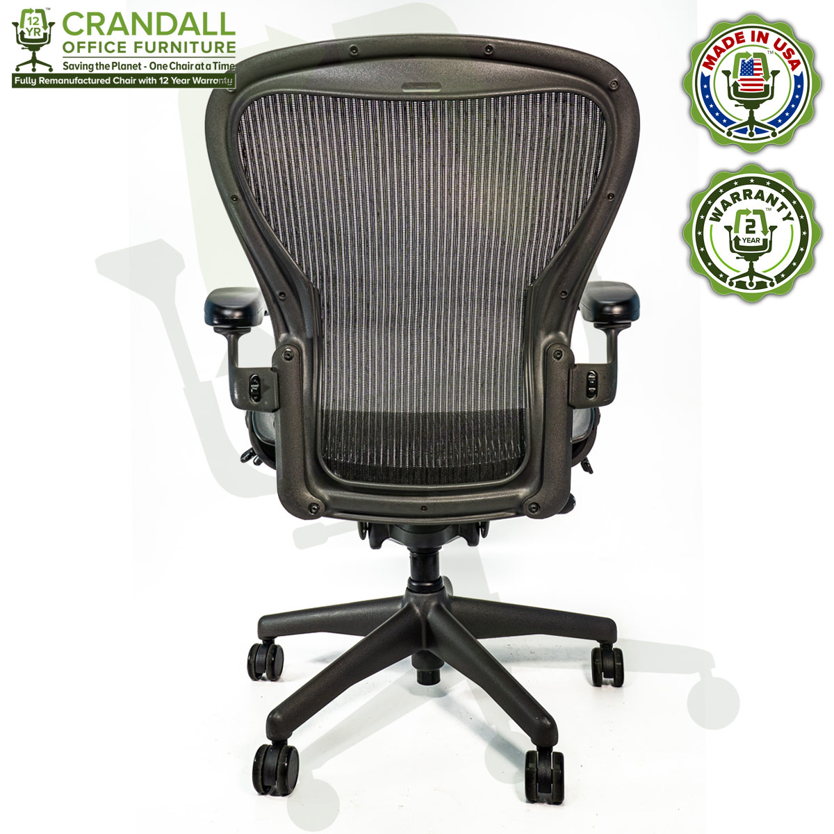 Crandall Office Refurbished Herman Miller Aeron Chair - Size C - 0005