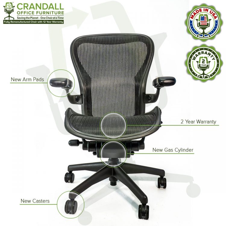 Crandall Office Refurbished Herman Miller Aeron Chair - Size C - 0006