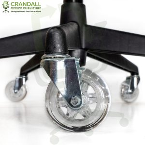 Crandall Office Furniture 75mm / 3 Inch Roller Blade Style Casters Clear 001