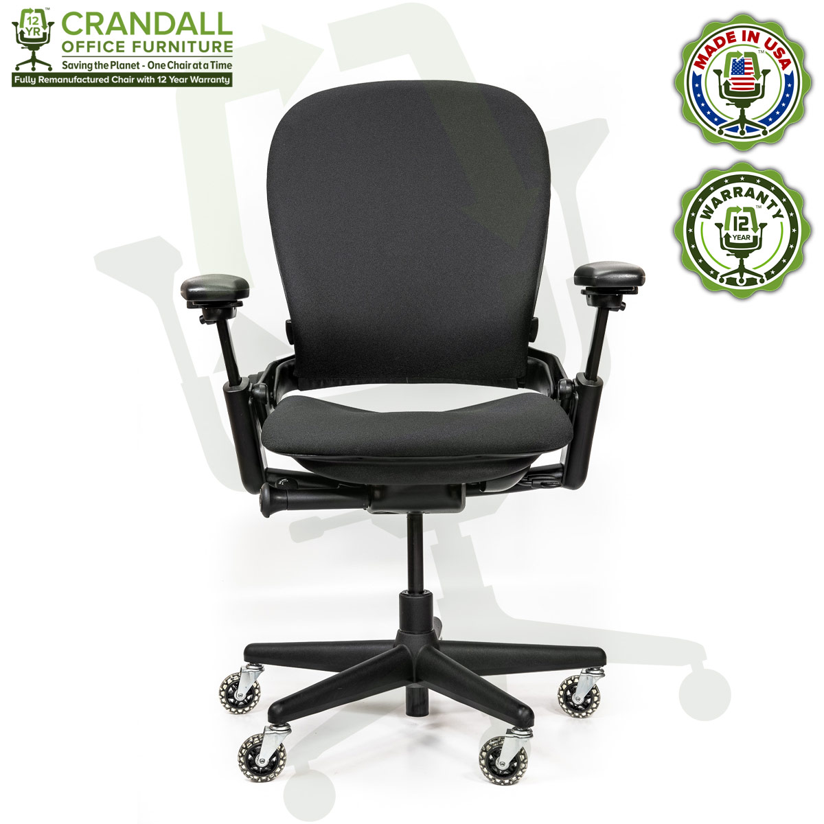 Crandall Office Furniture Remanufactured Steelcase V1 Leap Chair - Highback 001