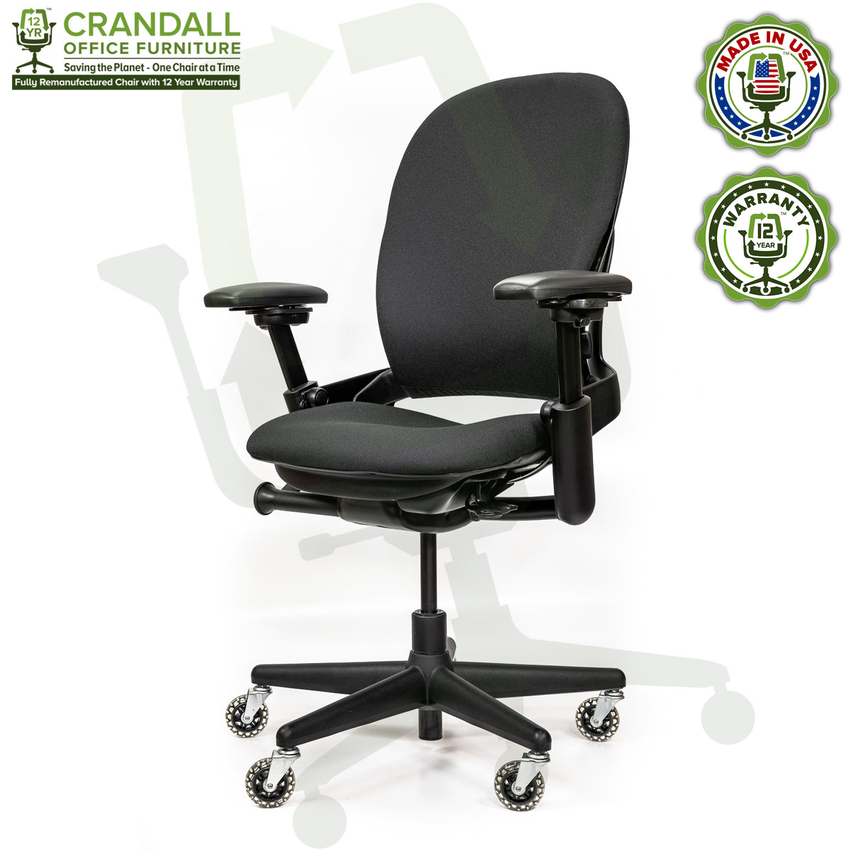Crandall Office Furniture Remanufactured Steelcase V1 Leap Chair - Highback 002