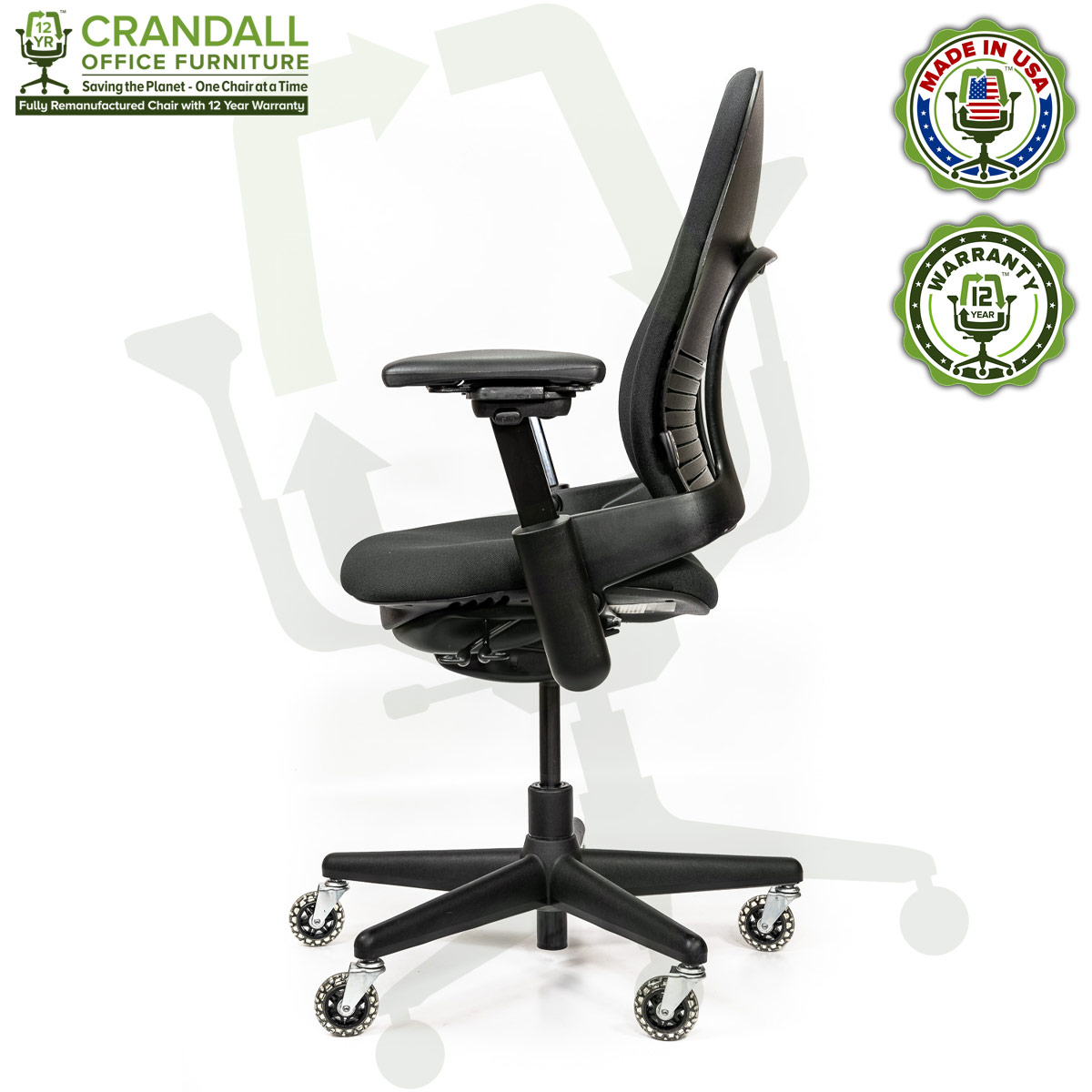Crandall Office Furniture Remanufactured Steelcase V1 Leap Chair - Highback 003