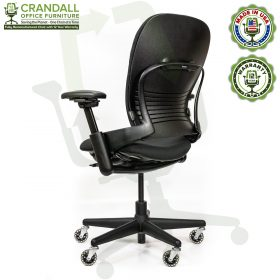 Crandall Office Furniture Remanufactured Steelcase V1 Leap Chair - Highback 004