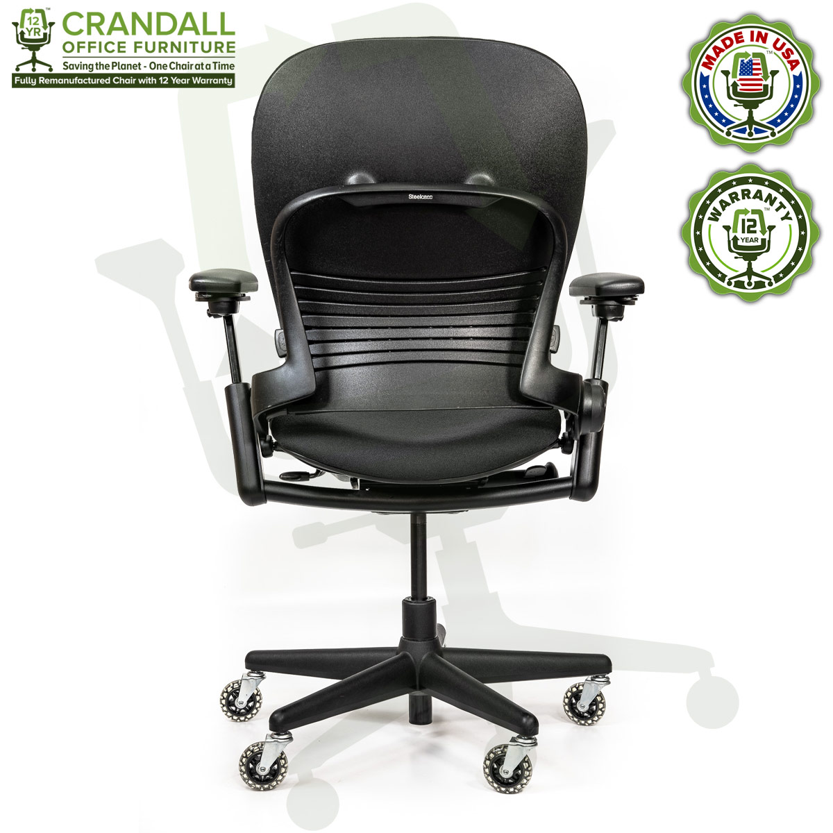 Crandall Office Furniture Remanufactured Steelcase V1 Leap Chair - Highback 005