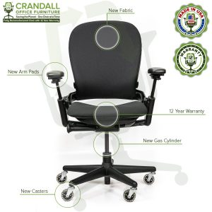 Crandall Office Furniture Remanufactured Steelcase V1 Leap Chair - Highback 006