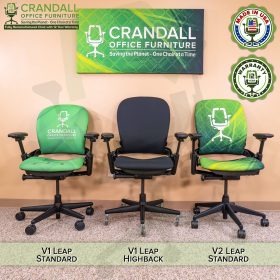 Crandall Office Furniture Remanufactured Steelcase V1 Leap Chair - Highback 007