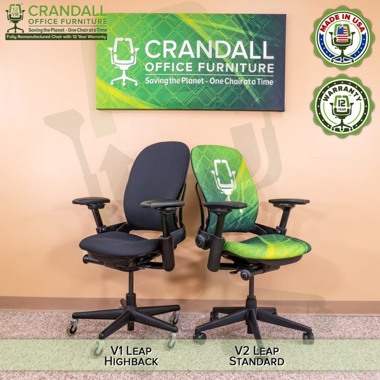 Crandall Office Furniture Remanufactured Steelcase V1 Leap Chair - Highback 008