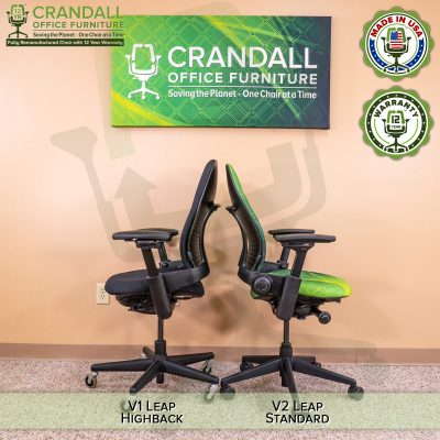 Crandall Office Furniture Remanufactured Steelcase V1 Leap Chair - Highback 009