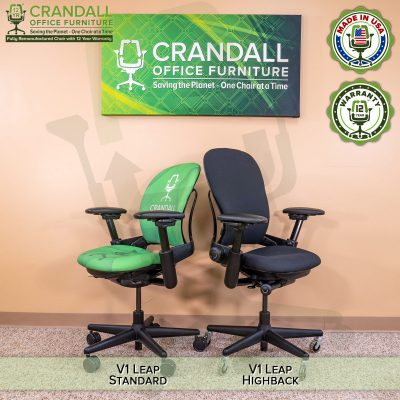 Crandall Office Furniture Remanufactured Steelcase V1 Leap Chair - Highback 010