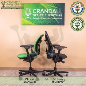 Crandall Office Furniture Remanufactured Steelcase V1 Leap Chair - Highback 011