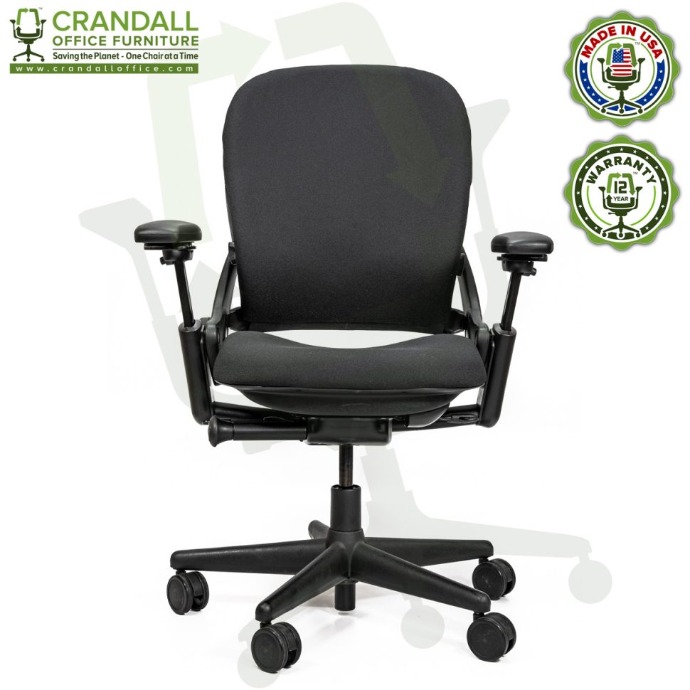 Crandall Office Furniture Remanufactured Steelcase V1 Leap Chair Arch Back - Highback 001