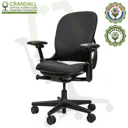 Crandall Office Furniture Remanufactured Steelcase V1 Leap Chair Arch Back - Highback 002