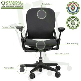 Crandall Office Furniture Remanufactured Steelcase V1 Leap Chair Arch Back - Highback 006