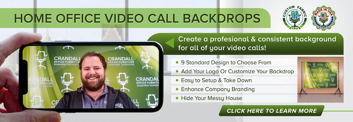 Home Office Video Call Printed Backdrops - Header Image
