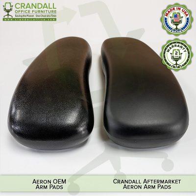 Aftermarket vs OEM Herman Miller Aeron Arm Pad Comparison 05