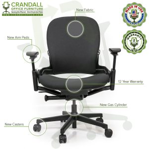 Crandall Office Furniture Remanufactured Steelcase V2 Leap Plus Chair 07