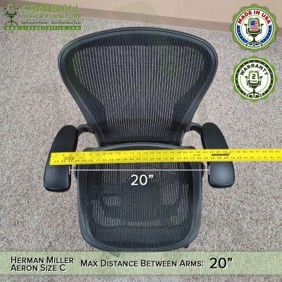 Herman Miller Aeron Size C Distance Between Arms Measurement - 01