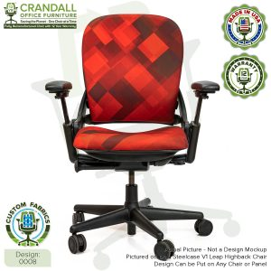 Remanufactured Steelcase Leap V1 Highback - Custom Fabric Design 0008