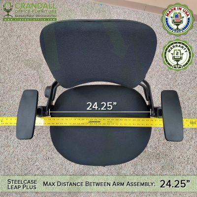 Steelcase Leap Plus Distance Between Arms Measurement - 02