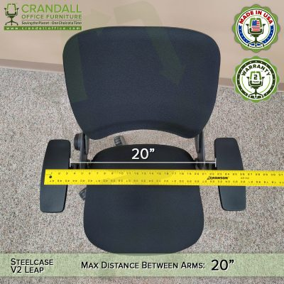 Steelcase V2 Leap Distance Between Arms Measurement - 01
