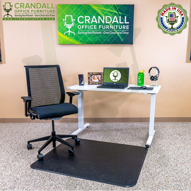 Crandall Office Work From Home Chair & Desk Bundle with Steelcase Think Chair 02