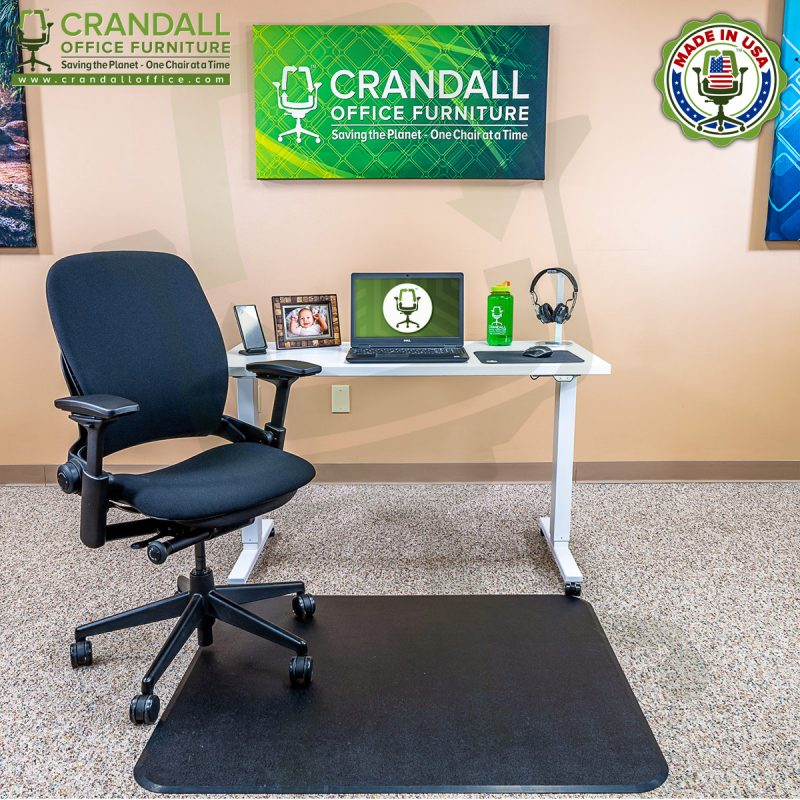 Crandall Office Work From Home Chair & Desk Bundle with Steelcase V2 Leap Chair 01