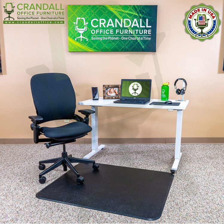 Crandall Office Work From Home Chair & Desk Bundle with Steelcase V2 Leap Chair 02
