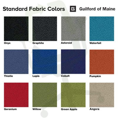 Crandall Office Furniture Standard Fabric Colors - Guildford of Maine Open House Fabric