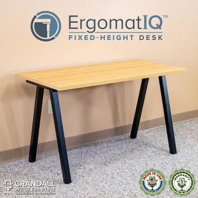 ErgomatIQ Fixed Height Desk with A Style Leg 01