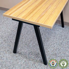 ErgomatIQ Fixed Height Desk with A Style Leg 03