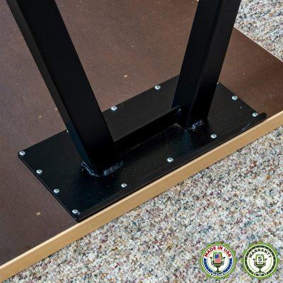 ErgomatIQ Fixed Height Desk with A Style Leg 04
